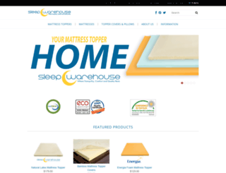 sleepwarehouse.com screenshot