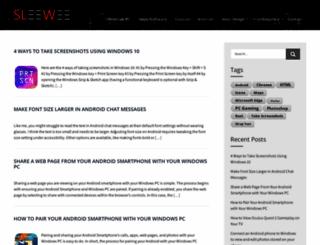 sleewee.com screenshot