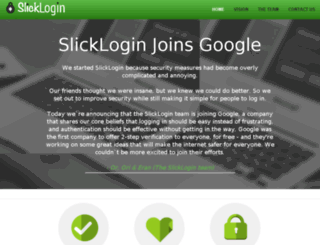 slicklogin.com screenshot