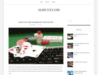 slipcup.com screenshot