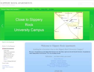 slipperyrockapartments.com screenshot