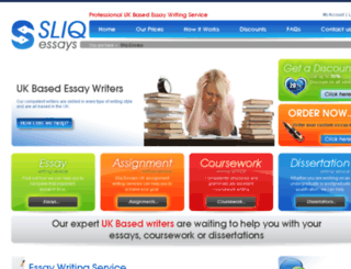 sliqessay.co.uk screenshot