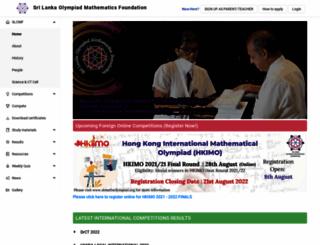 slmathsolympiad.org screenshot