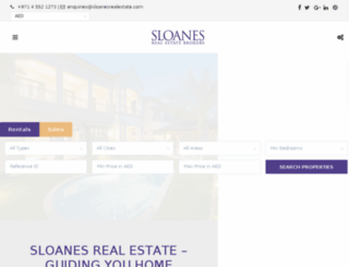 sloanesrealestate.com screenshot