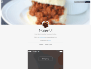 sloppyui.tumblr.com screenshot
