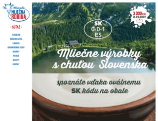 slovenskemlieko.sk screenshot