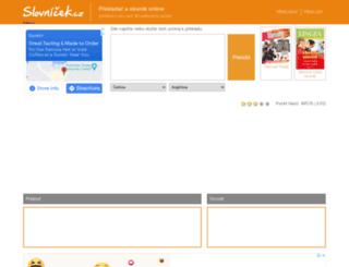 slovnicek.cz screenshot