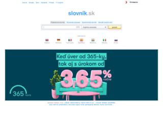 slovnik.azet.sk screenshot
