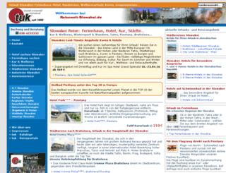 slowakei-reisen.de screenshot