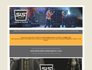 slsloudspeakers.com screenshot