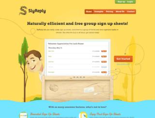 slyreply.com screenshot