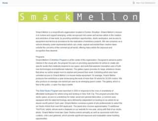smackmellon.submittable.com screenshot