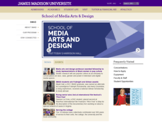 smad.jmu.edu screenshot