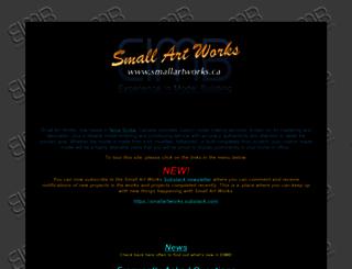 smallartworks.ca screenshot