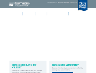smallbusiness.northerncu.com screenshot