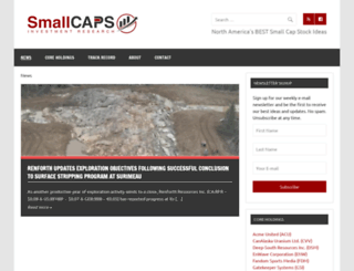 smallcaps.us screenshot