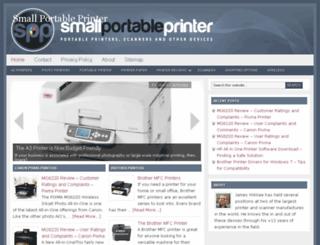 smallportableprinter.com screenshot