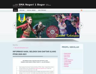 sman1bogor.sch.id screenshot