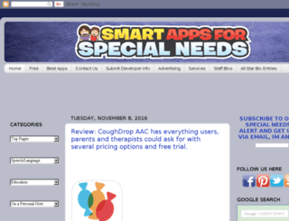 smartappsforspecialneeds.com screenshot