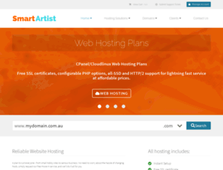 smartartist.com.au screenshot