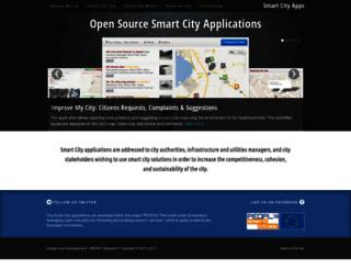 smartcityapps.urenio.org screenshot