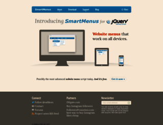 smartmenus.org screenshot