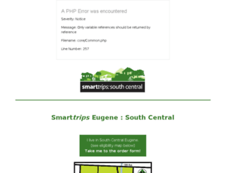 smarttripseugene.altaprojects.net screenshot