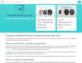 smartwatches4u.com screenshot
