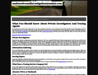 smdetectiveandinvestigationmumbai.com screenshot