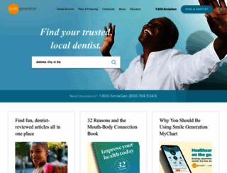 smilegeneration.com screenshot