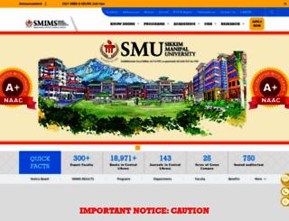 smims.smu.edu.in screenshot