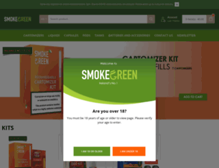 smokegreen.ie screenshot