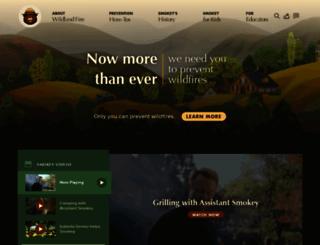 smokeybear.com screenshot