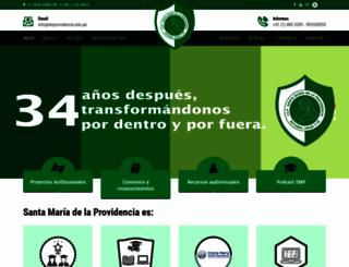 smprovidencia.edu.pe screenshot