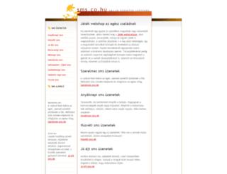sms.co.hu screenshot