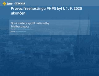 sms.php5.cz screenshot