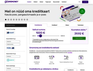 smsmoney.ee screenshot
