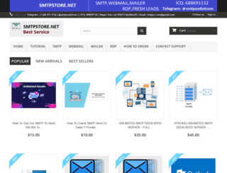 smtpstore.net screenshot