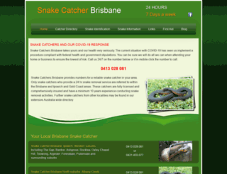 snakecatchers.com.au screenshot