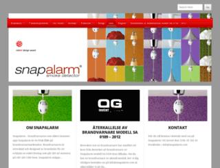 snapalarmsverige.wordpress.com screenshot