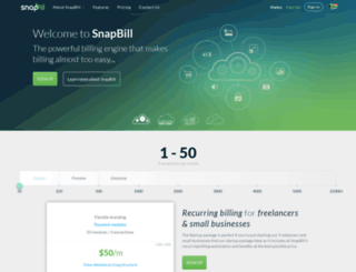 snapbill.com screenshot
