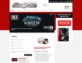 snapontools.com.au screenshot