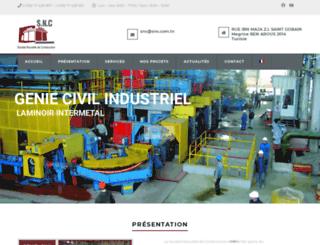 snc.com.tn screenshot