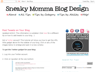 sneakymommablogdesign.blogspot.com screenshot