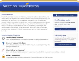 snhu.smartermeasure.com screenshot