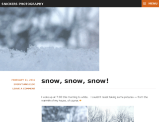 snickersphotography.wordpress.com screenshot