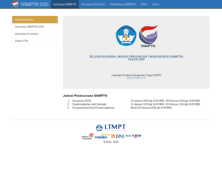 snmptn.ac.id screenshot