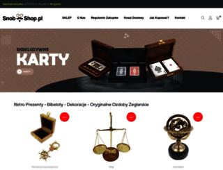 snob-shop.pl screenshot