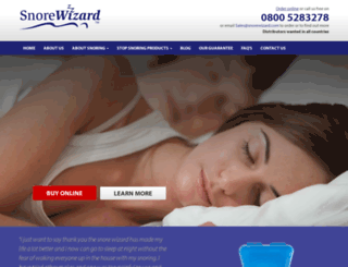 snorewizard.co.uk screenshot