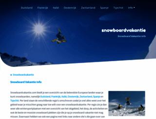 snowboardvakantie.com screenshot